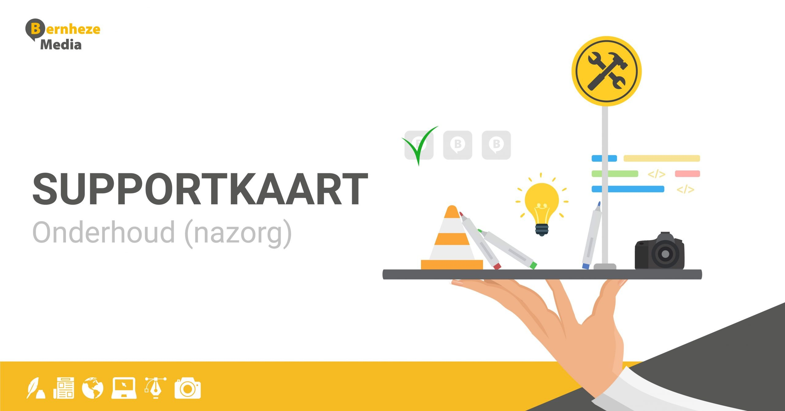 Supportkaart Wordpress onderhoud