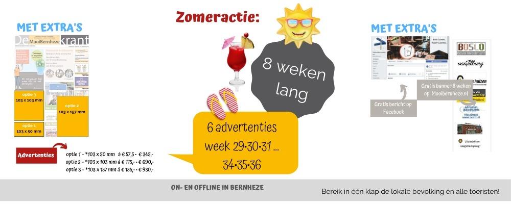 Banner zomeractie Bernheze krant