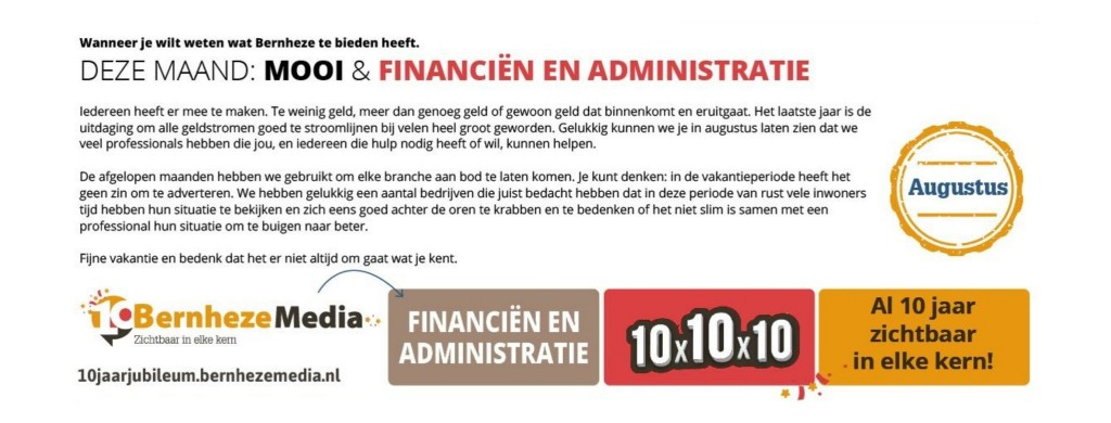 Omslag Jubileummaanden Mooi & Financieel & Administratie